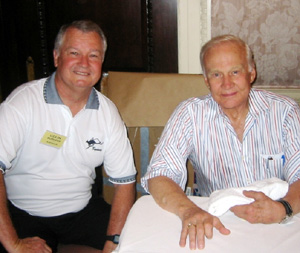Colin Burgess with astronaut Buzz Aldrin